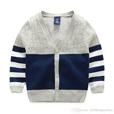 new boy sweaters striped cotton top warm sweater for boys knitting