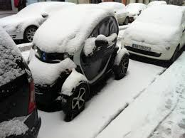 nissan leaf in snow my e life now twizy in the snow