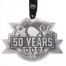 50th anniversary ornaments pittsburgh penguins 50th anniversary collector s ornament