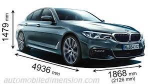 bmw 5 series differences dimensions of bmw cars showing length width and height