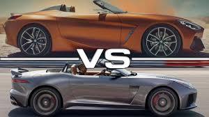 2018 bmw z4 concept vs 2018 jaguar f type convertible youtube