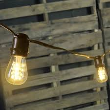 globe string lights brown wire led commercial globe string lights 37 ft brown wire s14 warm white