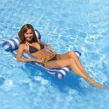 stripe water hammock lounger pool float inflatable air mattress
