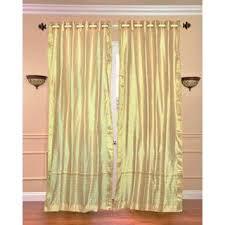 Sari Curtain Handmade Black 84 Inch Rod Pocket Sheer Sari Curtain Panel Pair