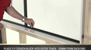 aluminum window screen roll how to install a fly screen on an a u0026l sliding window youtube