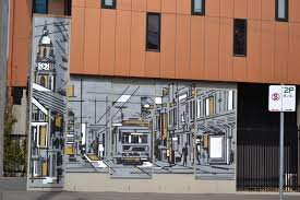 a walk around south melbourne part 2 leanne s delicious food one of the modern developments in south melbourne this one has a modern scene printed on the side depicting the trams rustling down south melbourne