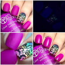 matte purple nail polish glow in the dark nail polish