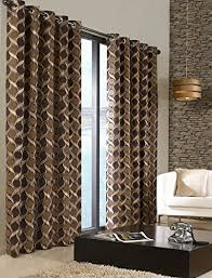 Chocolate Curtains Eyelet Reviews Of Beige Chocolate Brown Retro Plain Circles Heavy
