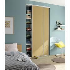 porte placard chambre porte de placard coulissante à peindre spaceo l 67 x h 250 cm