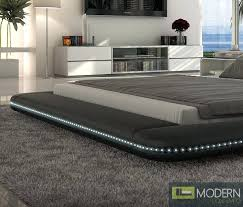 platform bed with led lights modern platform bed with lights more views modern black platform bed