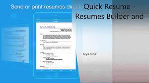 Quick Resume Builder Quick Resume Resumes Builder And Designer Iphone U0026 Ipad Review