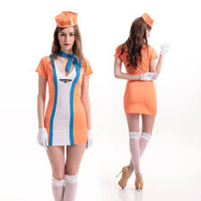 Halloween Flight Attendant Costume Stewardess Costume Girls Stewardess Costume Sale