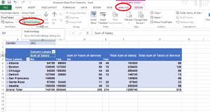 Pivot Table In Excel 2013 How To Format Your Pivot Tables In Microsoft Excel 2013 Software Ask