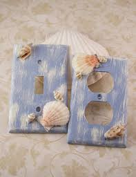Sea Life Home Decor Light Switchplate Covers Blue Home Decor Distressed Sea Shell