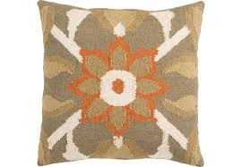 flower burst camel accent pillow accent pillows brown