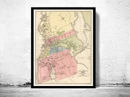 fall river 1878 massachusetts maps vintage prints