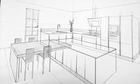 dessiner une cuisine en perspective déco cuisine perspective en l 19 argenteuil perspective