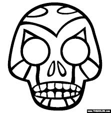 skull coloring free skull coloring