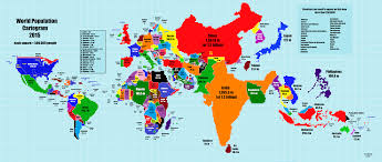 07 World Map by This World Map Is Scaled According To Population Size