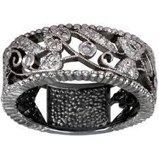 dacarli vintage ring art deco ring diamond wedding band filigree