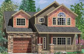 narrow lot house plans craftsman narrow lot house plans with rear garage best front craftsman