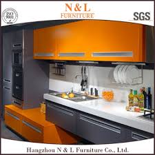 Newest Tempered Glass Finish High Gloss Kitchen Cabinets For - High gloss kitchen cabinet doors
