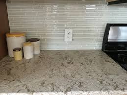Led Backsplashes My Updated Kitchen Cambria Windermere Countertops Glass