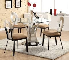 Small Round Kitchen Tables by Glass Round Kitchen Table Home Design Ideas And Pictures