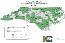 Map Of Nc State by North Carolina Rural Hospital Program Nc Department Of Health