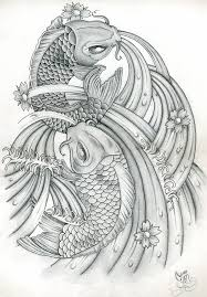 japanese koi one of my koi carp drawings its flickr