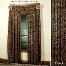 safari and african home decor touch of class leopard stripe tailored panel