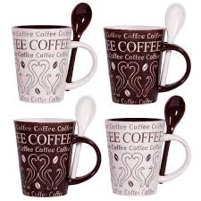 home essentials coffee and swirl set of 4 asst 10oz