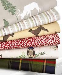 martha stewart novelty flannel print textural stripe full sheet set