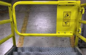 fall protection safety gates u2013 industrial safety gate installation