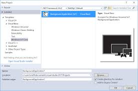 tutorial instal visual basic 6 0 di windows 7 windows iot core project templates for vs 2017 visual studio