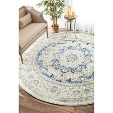 nuloom traditional persian vintage blue round rug 5 u0027 round blue