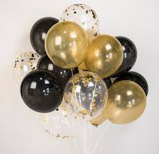 gold balloons confetti balloon party decoration balloons bouquet for