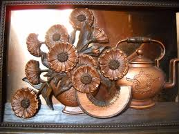 copper decorative items copper wall art or kitchen decor 11 x 15