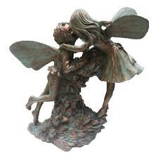 bronze fairy garden statues home outdoor decoration