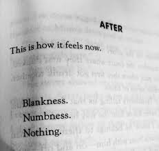 this is how it feels now blankness numbness nothing picture