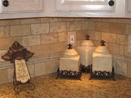 unique natural stone subway tile backsplash home design image