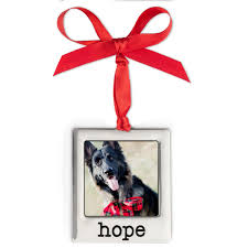 silver plate hope photo ornament christmas ornaments and decor