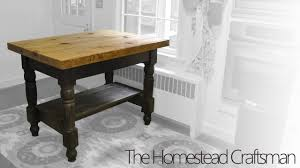 A Kitchen Island by Building A Kitchen Island From Reclaimed Wood Youtube