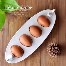 ceramic egg trays aliexpress buy creative white ceramic egg plate boat