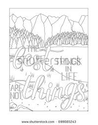 Coloring Book Page Mountain Lake Scenery Stock Illustration Coloring Book Page