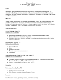 Production Manager Resume Samples Resume Sample For Customer Service Retail In Samples And