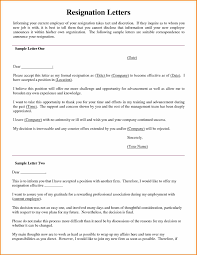 letter of intent resignation gallery letter format examples