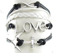 Items Similar To Love Anchors - infinity cross bracelet anchor bracelet rudder bracelet gift e