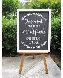 wedding seating signs deals on choose a seat not a side decals rustic wedding sign