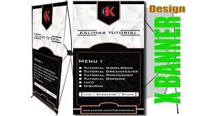 cara membuat desain x banner di photoshop tutorial cara membuat banner dengan coreldraw x banner youtube